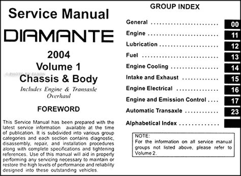 service and repair manuals 2004 mitsubishi diamante head up display 2004 mitsubishi diamante repair shop manual set original 2 volume set