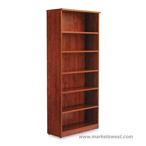 alera 6 shelf laminate bookcase
