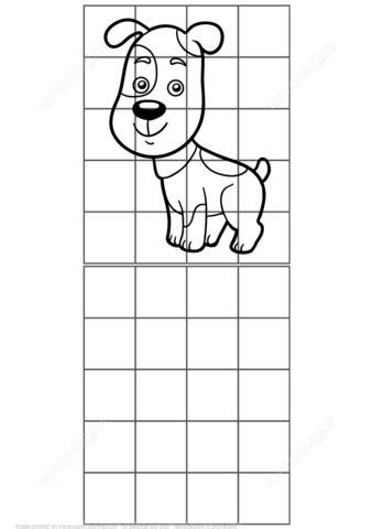 printable dog puzzle cute dog grid copy puzzle free printable puzzle games