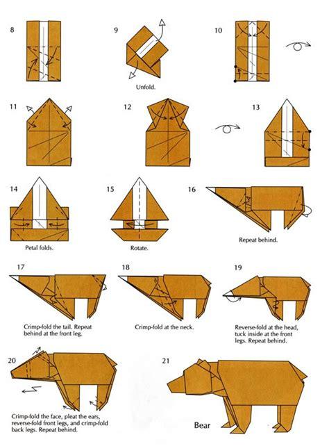 tutorial origami in italiano bear easy origami instructions part 2 origami kids