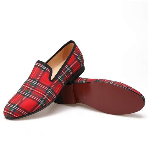 plaid loafers plaid fabric loafers merlutti
