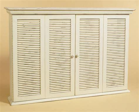 Lcd Tv Cabinet W Shutter Style Doors Shutter Cabinet Doors