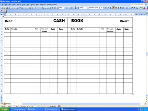 accounting made easy cash book