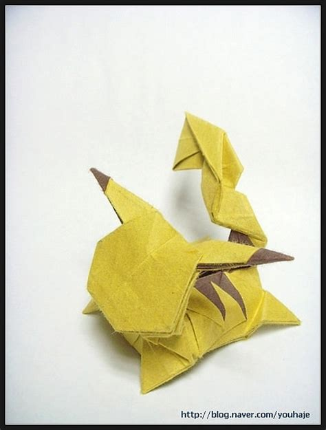 Pikachu Origami Advanced - 2 pikachu origami diagrams paper kawaii