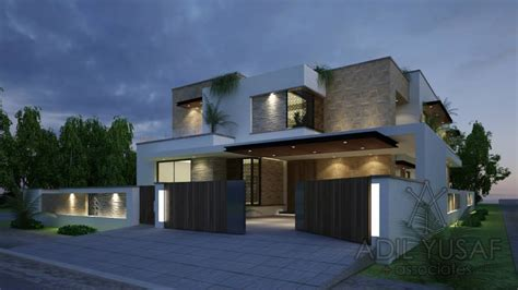 modern house by adil yusaf associates 1 kanal house