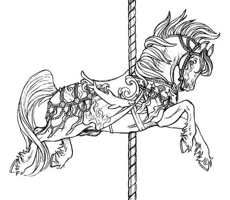 pony coloring pages for adults 21 best coloring pages advanced carousel horses images on