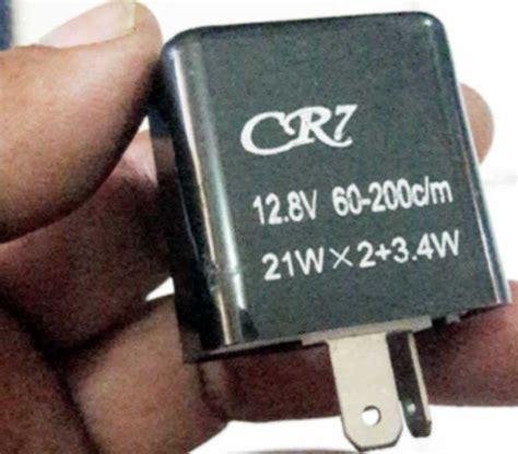 Flasher Sein Bisa Atur Kecepatan Kedip Led Dan Bohlam cangkok flasher cr7 atur kecepatan kedipan sein