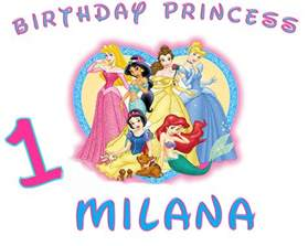 girls custom disney princess birthday shirt