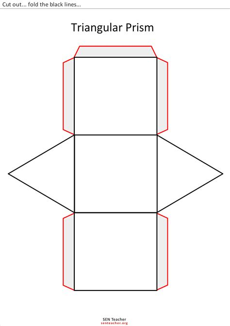 How To Make A Triangular Prism Out Of Paper - free coloring pages of triangular prism net