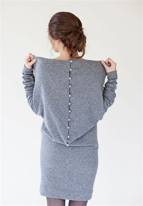 My For The Sweater Dress Couture In The City Fashion by Designer Dress Gray Sweater Dress Wool Sweater Dress
