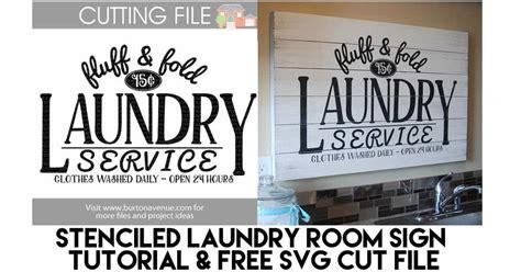 diy stenciled laundry room sign burton avenue
