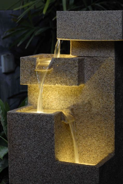 Lighted Outdoor Water Fountains Lighted Water Fountains Outdoor Design Ideas