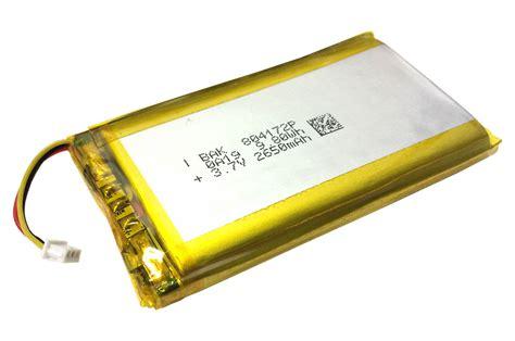 Battery Lythium Polymer 061045 polymer lithium ion battery lipo 2560mah