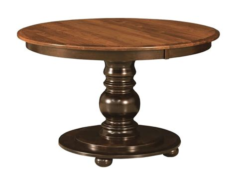 pedestal table amish round pedestal dining table black traditional