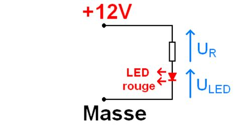 resistance pour diode 12v led et calcul de la r 233 sistance s 233 rie astuces pratiques
