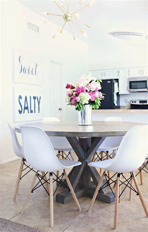 Update Dining Room Table How To Stain A Wood Table A Dining Room Update Clutter