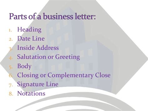 Parts Of Business Letter Essential parts of a business letter parts of a business letter