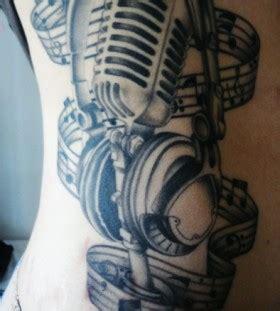 tribal microphone tattoo headphones and microphone