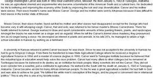 George Washington Carver Essay by Biographical Overview Of George Washington Carver At Essaypedia