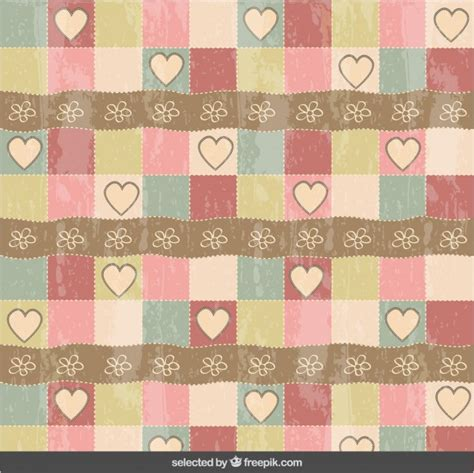 vintage heart pattern vintage hearts and flowers pattern vector free download