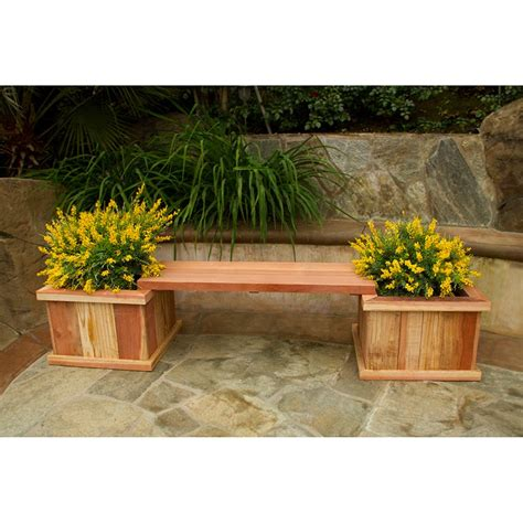 83 in redwood planter bench kit at hayneedle