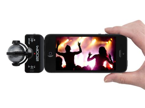 zoom professional stereo mic for iphone ipod black mcquade musical instruments