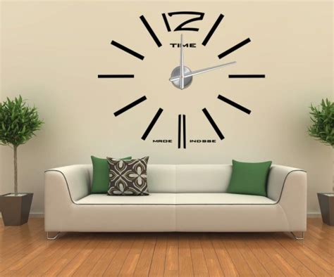 home decor wall clock china home decor 3d wall sticker big wall clock 12s003