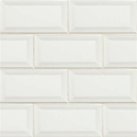 bevelled white gloss subway tile 75x150mm subway tiles ms international subway 3 x 6 beveled white glossy