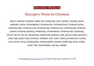 Words for christmas descriptive words list of adjectives word