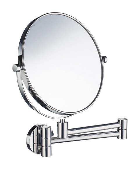 swing arm bathroom mirror smedbo outline swing arm shaving and make up mirror round
