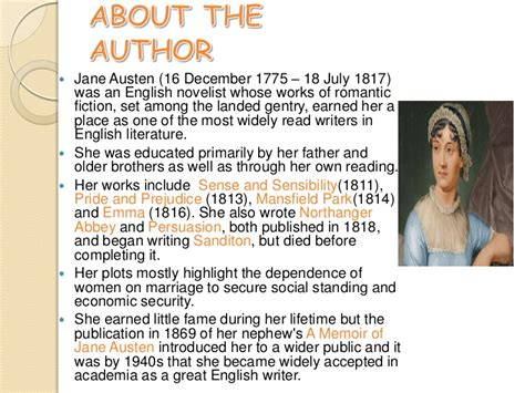 biography and works of jane austen jane austen s pride and prejudice