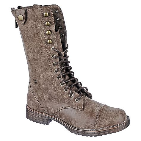doll house boots dollhouse vodoo women s brown combat boot shiekh shoes