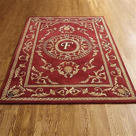 Monogrammed Rugs by Wallace Monogram Wool Area Rug Traditional Rugs