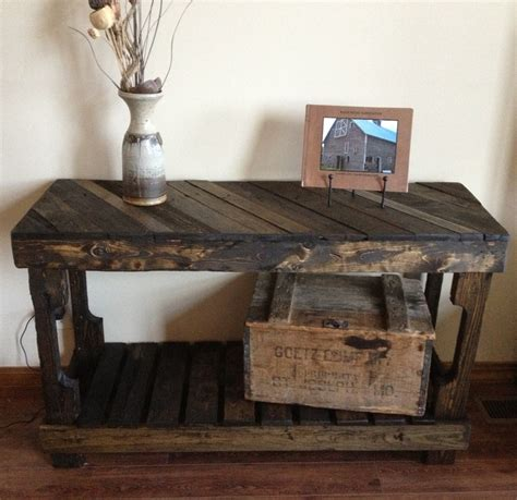 Pallet Sofa Entry Table By The Rustic Recyclery 145 For Pallet Sofa Table