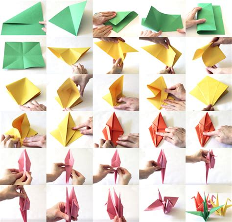 paper crane tutorial to help your children those in