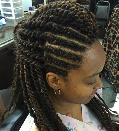 cornrows with hair out in back 70 best black braided hairstyles that turn heads in 2017