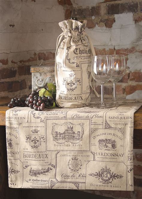 wine labels runner heritage lace
