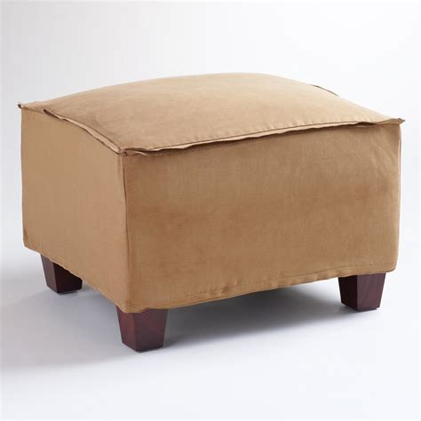 world market ottoman moccasin microsuede luxe ottoman slipcover world market
