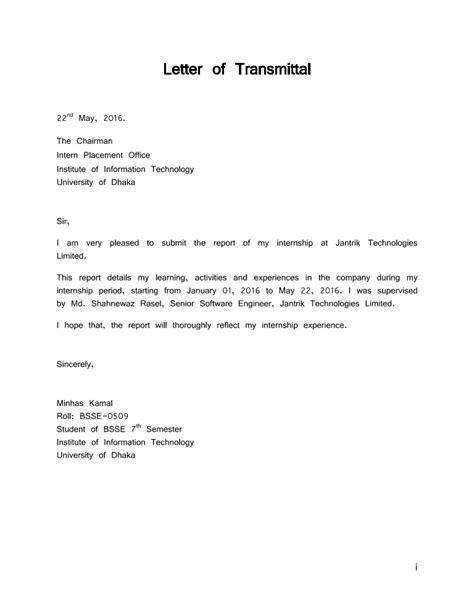 letter transmittal