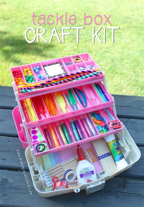 arts and crafts box for tackle box craft kit supplies gift for