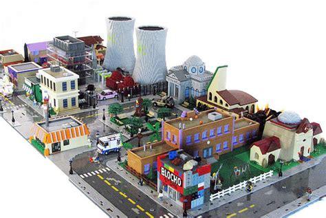 cartoon town lego dioramas lego springfield