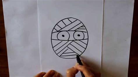 imagenes de halloween para el pin c 243 mo dibujar un momia dibuja conmigo dibujos de halloween