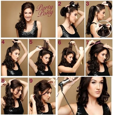 diy stylish party pony hairstyle images frompo