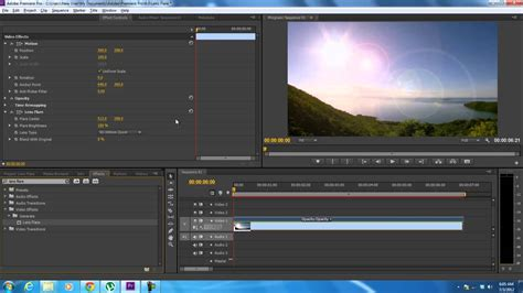 adobe premiere pro lighting effects how to use the lens flare effect in adobe premiere youtube