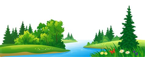 www trees lake and trees clipart