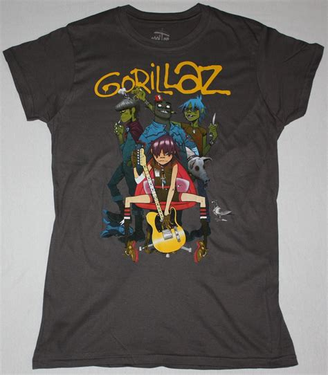 T Shirt Gorillaz 6 gorillaz band alternative hip hop rock brit blur new grey