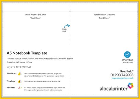 a5 folded card template product templates