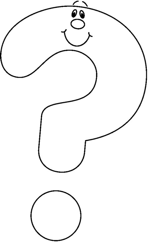 coloring page of question mark question clipart black and white coloring pages question