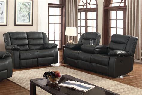 black reclining sofa and loveseat black leather loveseat homelegance center hill doble