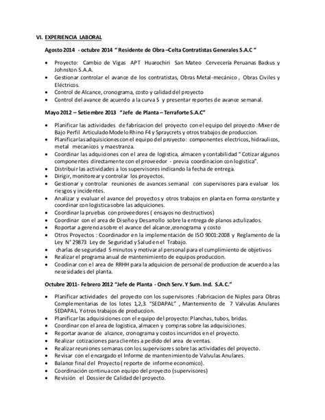 Modelo De Curriculum Vitae Jefe De Obra Modelo De Curriculum Vitae De Jefe De Almacen Modelo De Curriculum Vitae